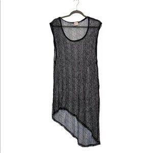 VTG Hi Low Dress Coverup Freeloader black sz M